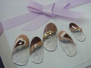 チョコレートプッチネイル